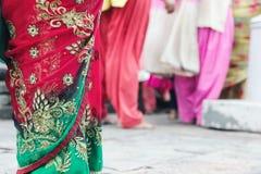 Close up of colorful sari dress Stock Photos