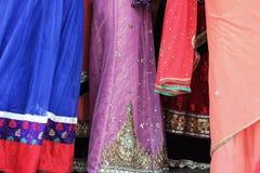 Close up of colorful sari dress Stock Images