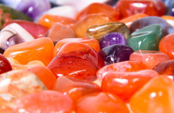 Close-up of colorful semi-precious stones Stock Image