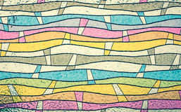 Close up of colorful stained glass, abstract vintage background Stock Images