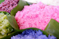 Close up colorful sticky rice Royalty Free Stock Image