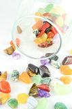 Close up colorful stones. In the glass Stock Image