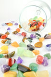 Close up colorful stones Stock Photos