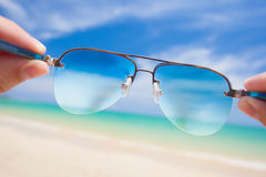 Close up of colorful sunglasses. tropical Thailand Royalty Free Stock Photo