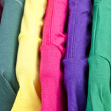 Close up of colorful t-shirt stock photography
