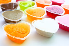 Close up of colorful thai jelly Stock Photos