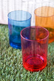 Close up colorful three cups Stock Image
