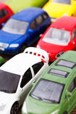 Close up of colorful toy cars. Shallow DOF. Stock Photos