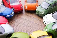 Close up of colorful toy cars. Shallow DOF. Stock Images