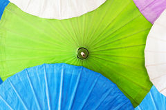 Close up of colorful umbrellas, Art and craft from Chiang Mai, Thailand. Royalty Free Stock Photo