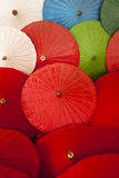 Close up of colorful umbrellas, Art and craft from Chiang Mai,Thailand. Royalty Free Stock Photography