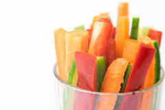 Close up of colorful vegetable sticks Royalty Free Stock Photos