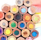Close-up colorful vintage pencils texture and pattern Stock Images