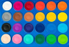 Close-up colorful watercolor royalty free stock photos