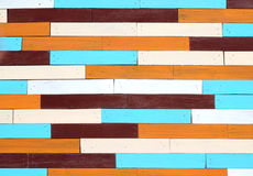 Close-up colorful wooden wall Royalty Free Stock Image