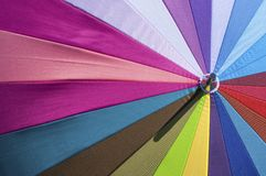 Close-up colorido brilhante do guarda-chuva Fotografia de Stock