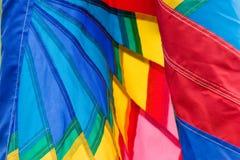 Close up colorido da bandeira Fotos de Stock Royalty Free