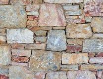 Close up colorido da parede de pedra Imagem de Stock Royalty Free