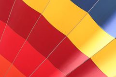 Close-up colorido do dirigible imagens de stock royalty free