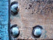 Close-up colorido dos parafusos Fotos de Stock