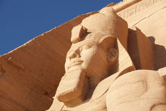 Close-up the colossal statue of Ramesses II Stock Photo