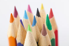 Close up of colour pencils. Close up of colourfull pencils Stock Photo
