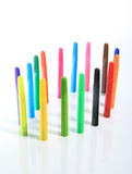 Close-up of colour pens Stock Image