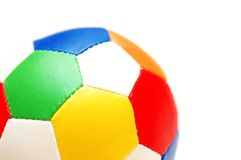 Close up of coloured football. Isolated  on white Stock Photos