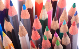 Close up of coloured pencils Stock Photography