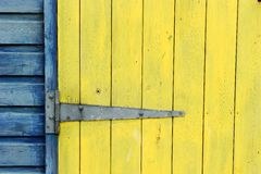Close up of colourful beach hut door Stock Photos