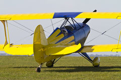 Close up of a colourful Biplane Royalty Free Stock Images