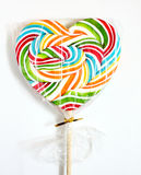 Close up of colourful lollipop. Stock Image