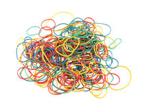 Close up of colourful rubber bands Stock Image