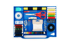 Close up of colourful sewing kit Royalty Free Stock Images