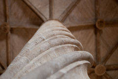 Close up column - decoration detail of the interior of the Old S Royalty Free Stock Images