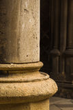 Close-up of column of a old building. Close-up of columns of a old building in Chernivtsi University Royalty Free Stock Photography