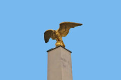 Close up of the column of Schonbrunn palace in Vienna. With the golden eagle Royalty Free Stock Image