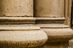 Close-up of columns of a old building. In Chernivtsi University Royalty Free Stock Photo