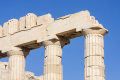 Close up of columns in Parthenon temple Royalty Free Stock Photos