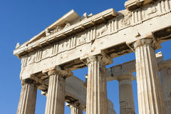 Close up of columns in Parthenon Stock Photo