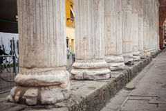 Close up of columns Stock Photo