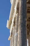 Close up of columns on Temple of Athena Nike Royalty Free Stock Photo