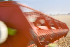 Close up of combine harvesting wheat Stock Photography