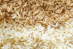 Close up of commodities that are needed in everyday life and that are traded on the stock market, such commodity as rice. Close up of commodities that are needed stock photos