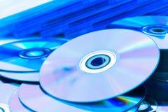 Close up compact discs (CD/DVD) Stock Photos