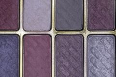 Close up of colorful eye shadow powder Royalty Free Stock Images
