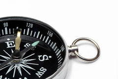 Close-up of compass. Close-up of modern compass isolated on white background Stock Photography