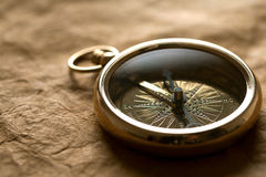 Close-up of compass Royalty Free Stock Photo