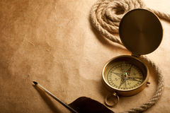 Close-up of compass Royalty Free Stock Photography