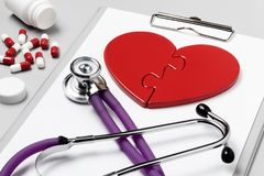 Heart Doctor`s Accessories Stock Photography